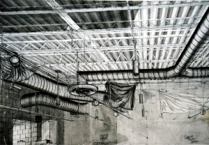 Inkwash Drawing - Ceiling