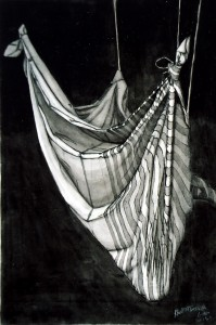 Inkwash Drawing - Drape